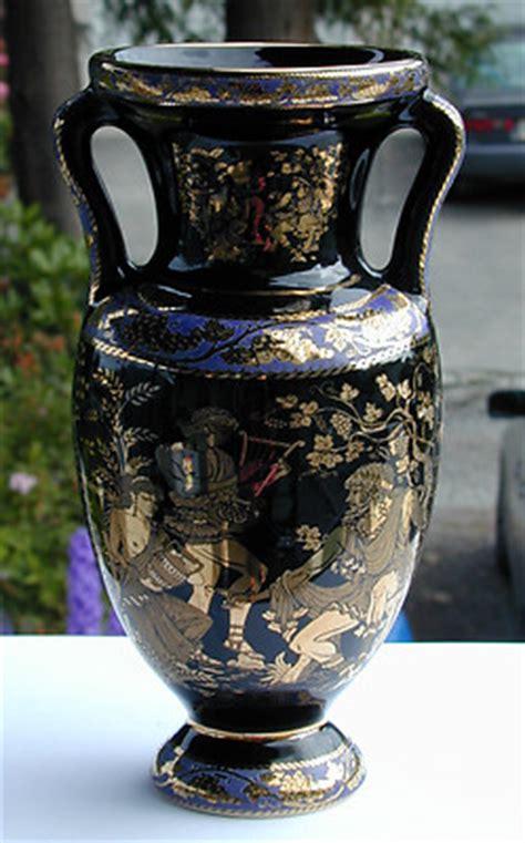 Handmade In Greece - vintage adis 24k gold made in greece colbalt blue