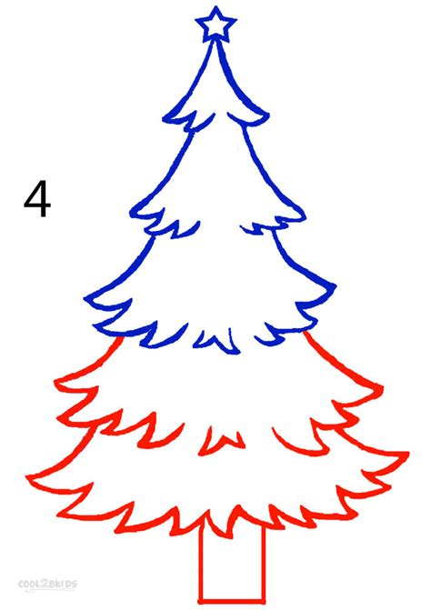 christmas tree drawing how to draw a christmas tree step by step pictures