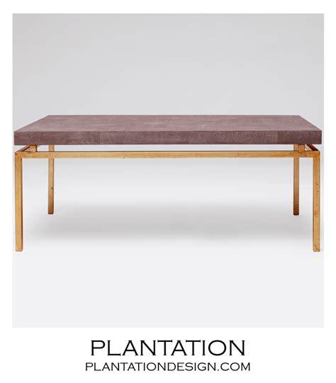 Plantation Coffee Table Depp Quot Shagreen Quot Gold Coffee Table Brown Plantation