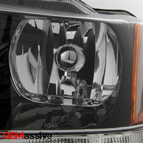 Jeep Grand 2004 Headlight Replacement 99 04 Jeep Grand Replacement Black Headlights