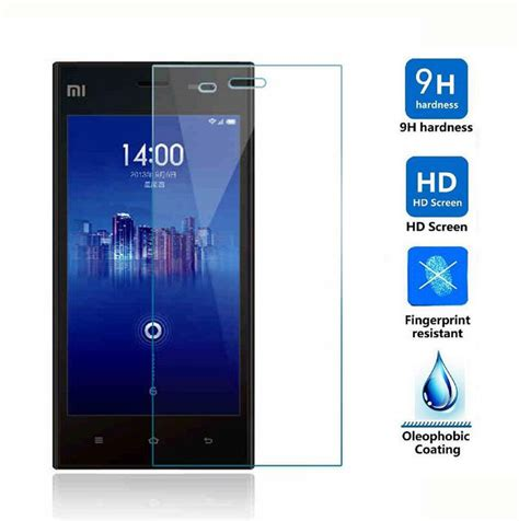 Tempered Glass 0 3mm Xiaomi Mi4i 0 3mm tempered glass guard for xiaomi redmi2 3 3s redmi