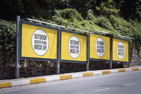 outdoor advertisment branding mockup psd files