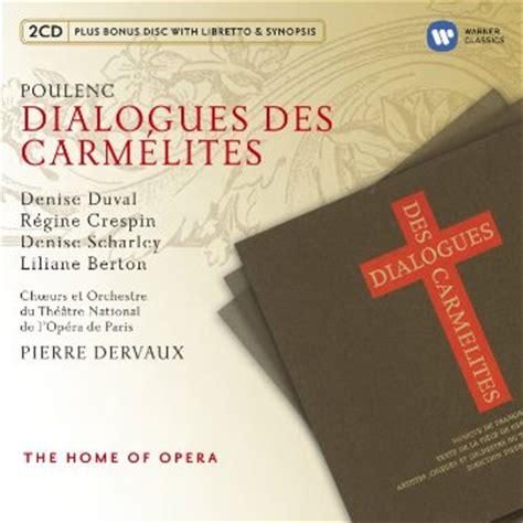 dialogues des carmelites 2020285428 discografie dialogues des carm 233 lites