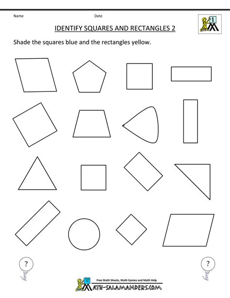 center for grade geometry worksheet center best