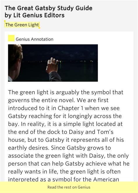 symbolism great gatsby chapter 1 the green light the great gatsby study guide
