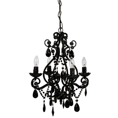Mini Black Chandeliers With Crystals 4 Light Black Onyx Mini Chandelier By Sleeping Partners