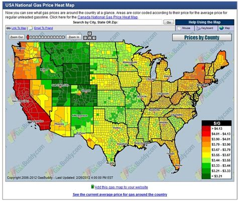 usa gas prices map usa national gas price map ap human geography