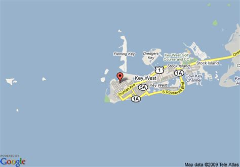 island city house key west map of island city house hotel key west