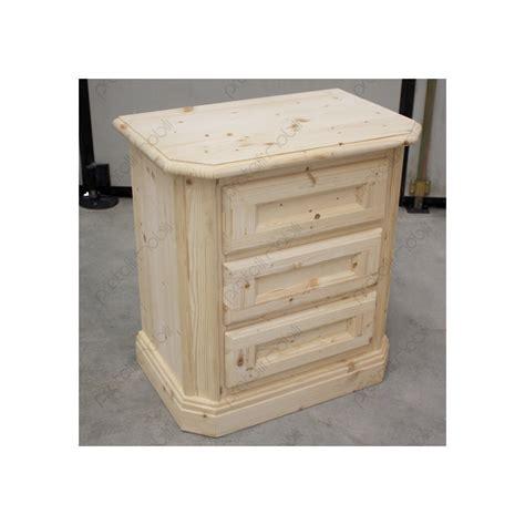 comodini in legno grezzo comodino grezzo in abete massello a 3 cassetti
