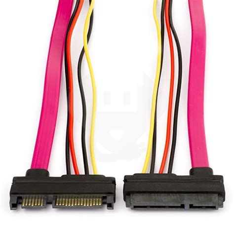 Kabel Sata 15 7 Pin To Data 0 5m 1 5ft Berkualitas s ata 22 pin sata 7 pins 15 pins verlengkabel 0 5 meter