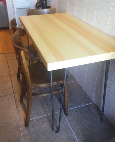 diy midcentury modern hairpin leg table lonny