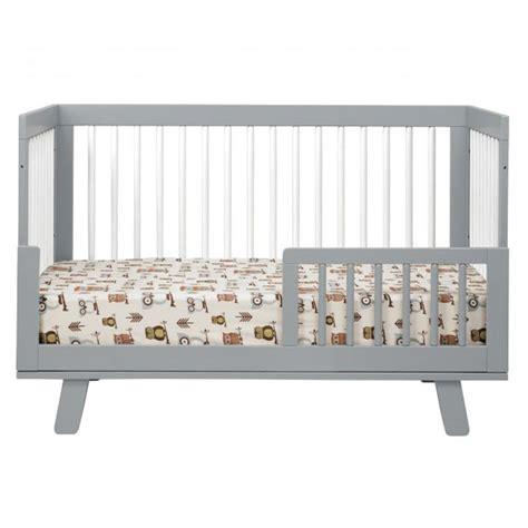 Grey Convertible Crib Grey And White Hudson Convertible Crib By Babyletto