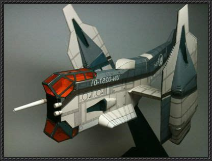 Papercraft Spaceships - evangelion nerv yagr n101 vtol vertical take and