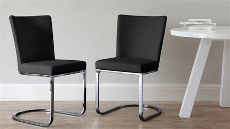 Black And Chrome Dining Chairs Black Chrome Cantilever Dining Chair Kendell Range