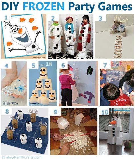 Frozen Themed Party Games | 75 diy frozen birthday party ideas about family crafts