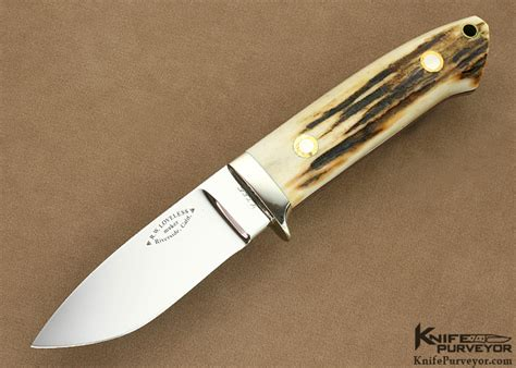 bob knives bob loveless riverside stag drop point