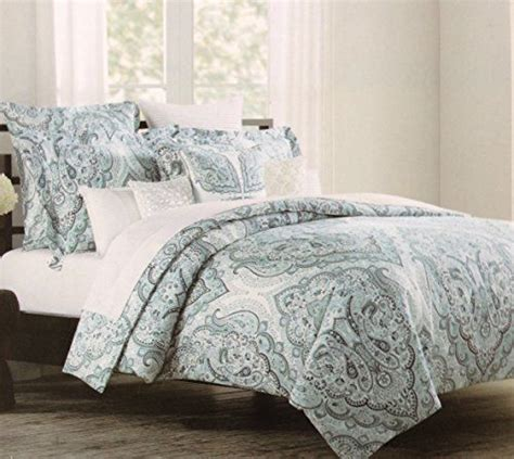 tahari home bedding tahari home paisley full queen duvet slate and navy blue