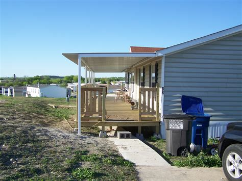 House Awning Price by Custom Deck Steel Awning Attached To Manufactured Home San Antonio