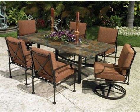 Palazzo Patio Furniture by O W Palazzo Patio Dining Set Traditional Patio