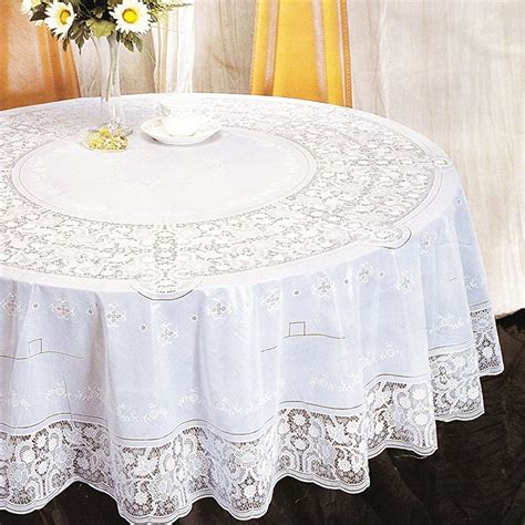 oval lace tablecloths uk vinyl lace tablecloth table cover white square oval rectangle embossed ebay