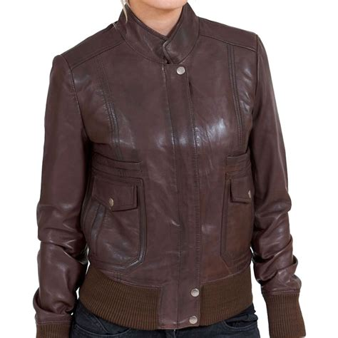 Bomber Leather by S Brown Leather Bomber Jacket Leather Jackets Usa