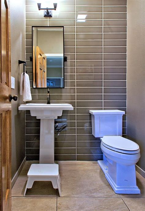 fabulous bathroom accent wall powder room transitional