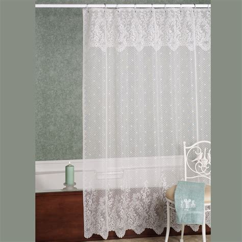 Lace Shower Curtains Floret Lace Shower Curtain