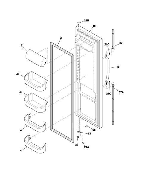 frigidaire refrigerator parts diagram refrigerator door diagram parts list for model