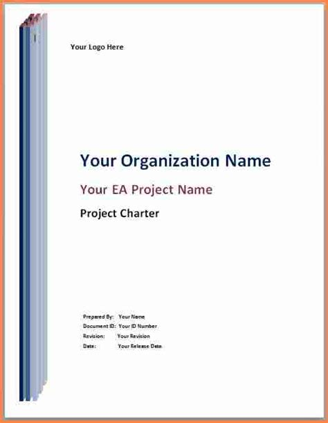 project cover page template 6 project title page project
