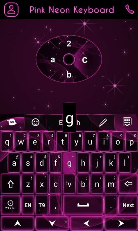themes and keyboard go keyboard pink neon theme android apps on google play