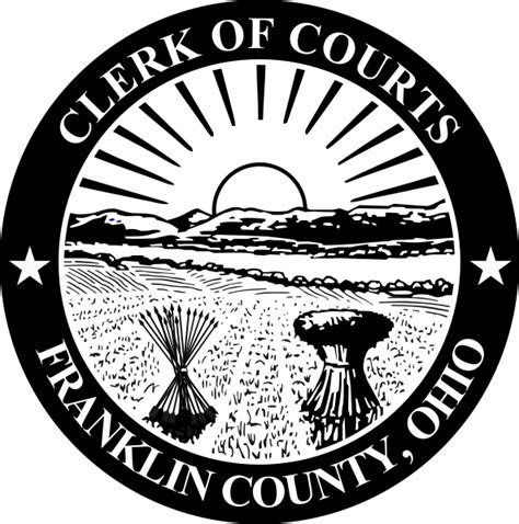 Franklin County Oh Court Records File Seal Of Franklin County Ohio Clerk Of Courts Svg Wikimedia Commons