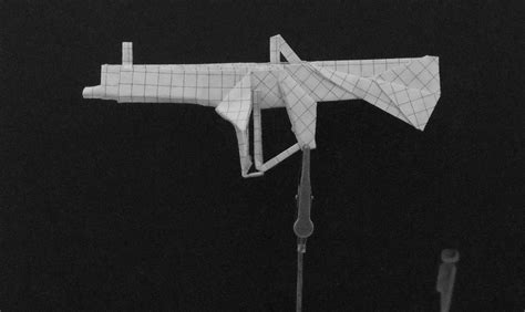 origami gun origami guns shotgun by solidmark on deviantart