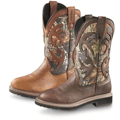 camo cowboy boots guide gear s whitetail camo wellington cowboy boots