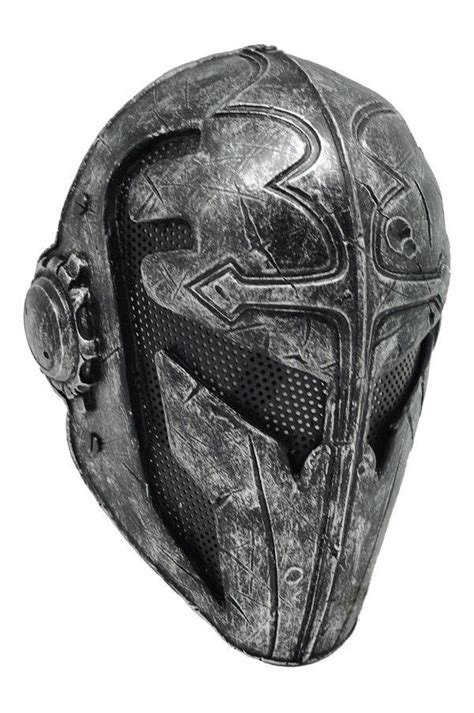 design helm half face black and steel airsoft full wire mesh protection templar