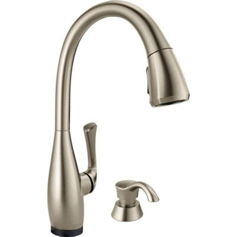 delta touch2o kitchen faucet delta dominic single handle pull down sprayer kitchen