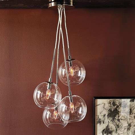 Cluster Pendant Light Cluster Glass Pendant Modern Pendant Lighting By West Elm