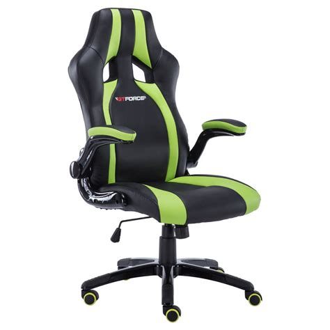 race car desk chair gtforce roadster 2 green black sport racing car office