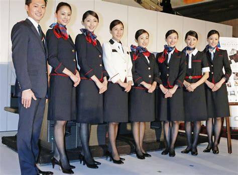 best airline uniforms of asia 2017 tallypress jal japan airlines cabin crew uniforms asian airlines