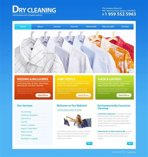 dry cleaners website template 26346