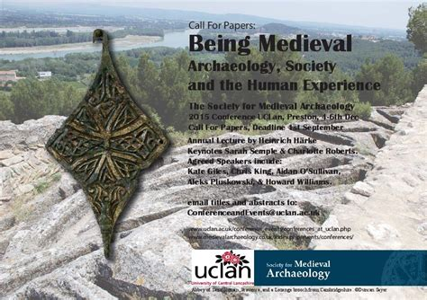 Society And Human Experience sma annual conference 2015 being archaeology