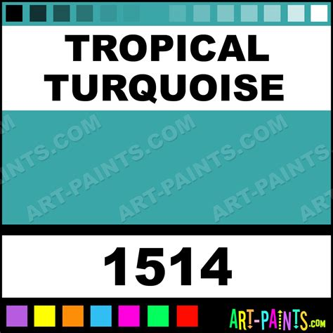 tropical turquoise acrylic enamel paints 1514 tropical