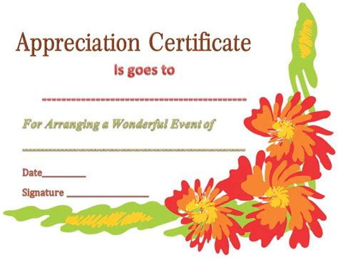 appreciation letter event organizer best 25 certificate of appreciation ideas on