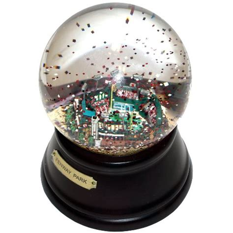 snow globe with fan boston red sox fenway park snow globe findgift com