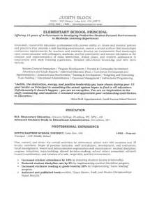 Principal Resume Samples School Administrator Principal S Resume Sample Page 1