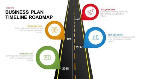 business plan timeline roadmap keynote  powerpoint