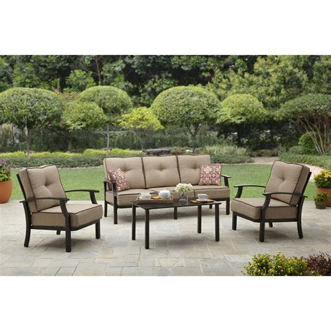 walmart patio dining set better homes and gardens clayton court 5 patio