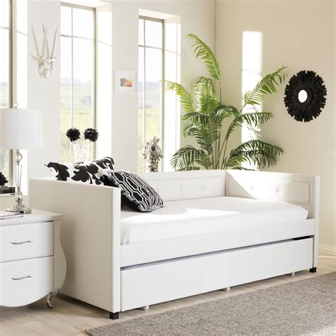 wholesale interiors baxton studio daybed  trundle