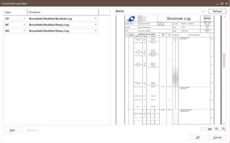 borehole log template logs and header reports keynetix