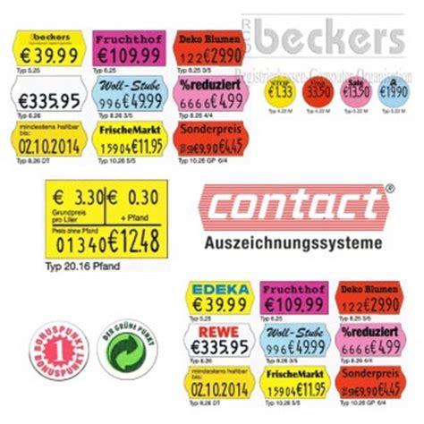Etiketten Contact by Warenauszeichner Preisauszeichner Etikettendruck