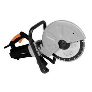 evolution power tools 12 in corded portable concrete saw